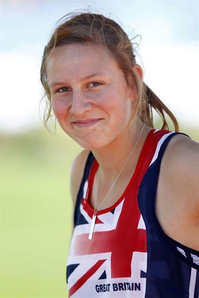 Great Britain's Holly Bleasdale is content after topping the group A qualifiers in the pole vault (Getty Images)