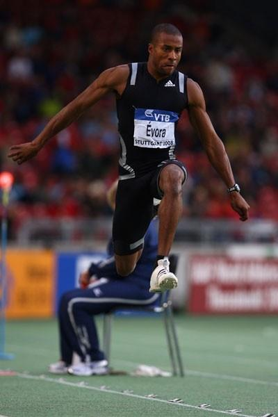 World and Olympic champion Nelson Evora flies to victory in the triple jump (Getty Images)