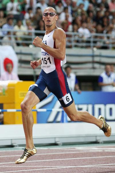 Jeremy Wariner after his dominating win in Osaka (Getty Images)