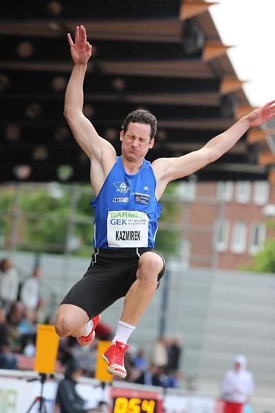 Kai Kazmirek on the first day of the 2013 IAAF Combined Events Challenge meeting in Ratingen  (Gladys von der Laage)