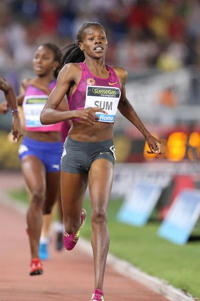Eunice Sum wins the 800m at the IAAF Diamond League meeting in Rome (Gladys Chai von der Laage)