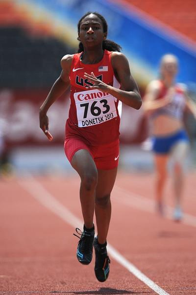 Olivia Baker at the IAAF World Youth Championships in Donetsk (Getty Images)