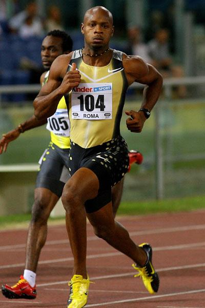 Asafa Powell's dominating return in Rome (Getty Images)