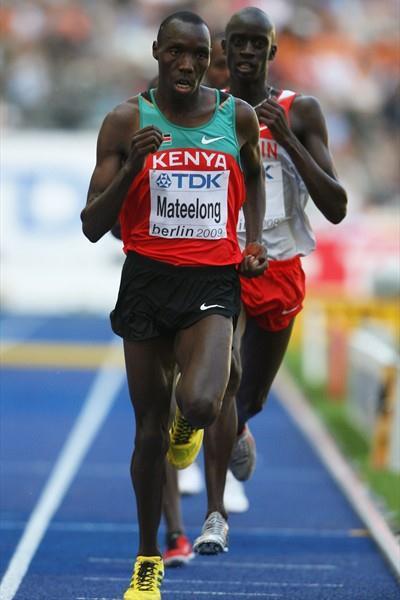 Richard Kipkemboi Mateelong of Kenya wins his heat of the men's 3000m steeplechase (Getty Images)