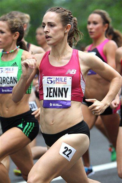 Jenny Simpson en route victory in the Fifth Avenue Mile (Photorun.net)