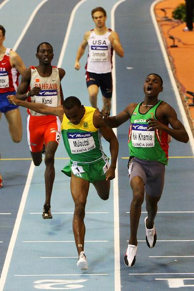 Abubaker Kaki scores a runaway victory in the men's 800m (Getty Images)