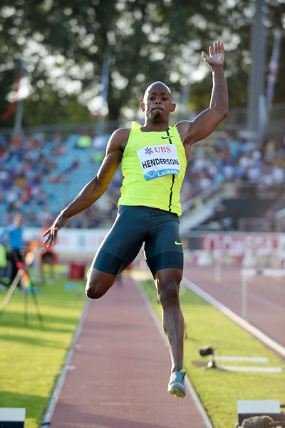 Jeff Henderson at the IAAF Diamond League meeting in Lausanne (Giancarlo Colombo)