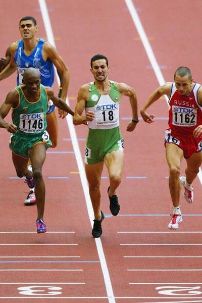 Djabir Said Guerni of Algeria wins the 800m final (Getty Images)