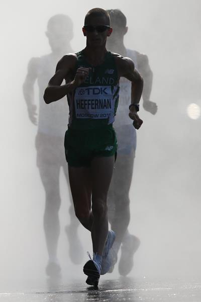 DAY 5 (14/08/2013): Robert Heffernan 50km Race Walk, Men Final (EOS-1D X + EF500mm F4L IS II USM, F4.0, 1/1600sec., ISO125) (Akito Mizutani)