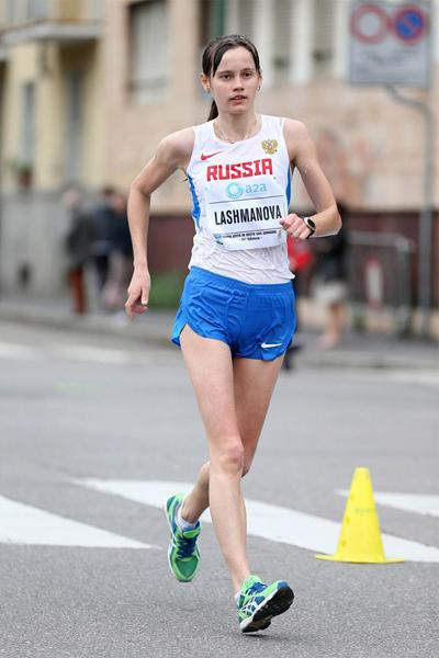 Elena Lashmanova on her way to victory in Sesto San Giovanni (Giancarlo Colombo)