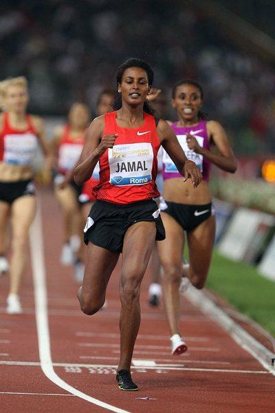 Maryam Yusuf Jamal wins 1500m in Rome (Giancarlo Colombo)