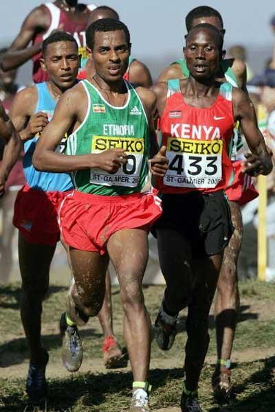 Long Race - Kenenisa Bekele and Kenya's Wilberforce Talel (Getty Images)