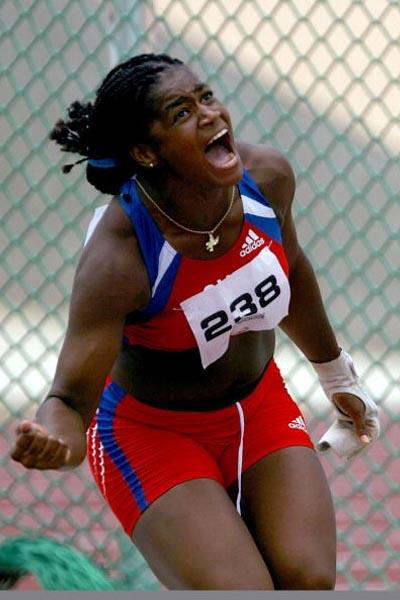 Yipsi Moreno of Cuba wins the Hammer Throw at the Pan American Games (Getty Images)