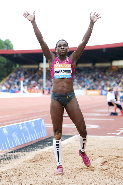 Caterine Ibarguen at the IAAF Diamond League meeting in Birmingham (Getty Images)