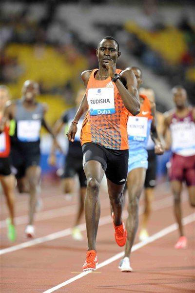 David Rudisha wins the 800m at the 2012 Samsung Diamond League in Doha (Jiro Mochizuki)