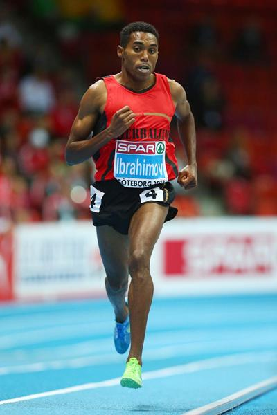 Hayle Ibrahimov wins 3000m gold for Azerbaijan at the European Indoor Championships (Getty Images)