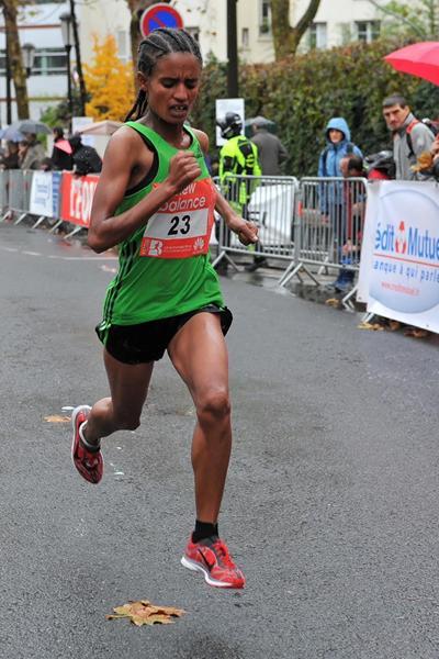 Kiros Tigsti Gebreselassie winning in Boulogne-Billancourt (Organisers)