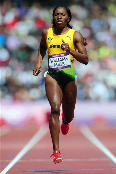 Novlene Williams-Mills of Jamaica competes in the Women's 400m Heats on Day 7 of the London 2012 Olympic Games at Olympic Stadium on August 3, 2012 in London, England (Getty Images)