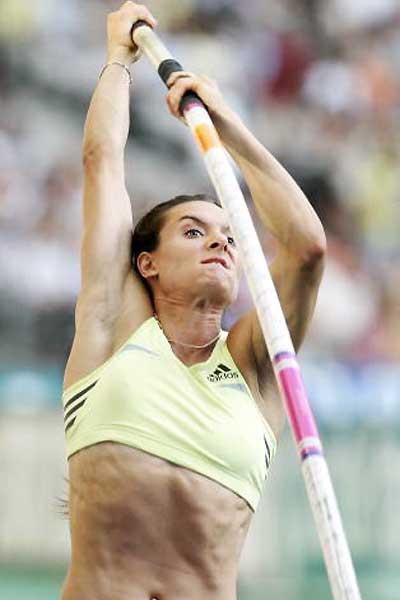 Yelena Isinbayeva - 4.76m in Paris (Getty Images)