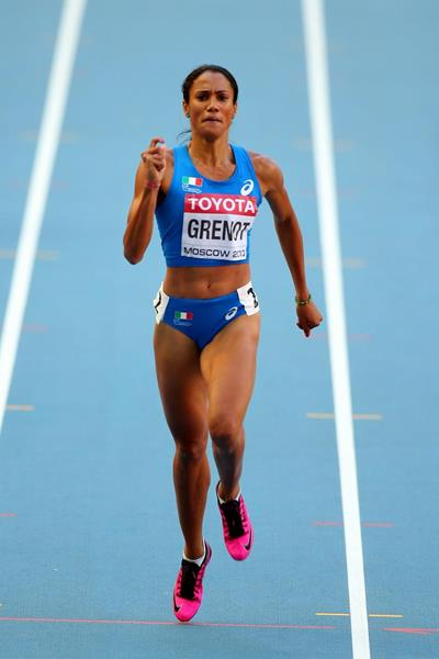 Libania Grenot at the 2013 IAAF World Championships in Moscow (Getty Images)