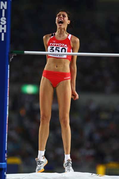 Blanka Vlasic of Croatia wins the High Jump Final (Getty Images)