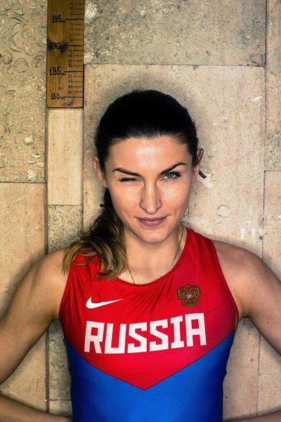 High jumper Anna Chicherova (SPIKES)