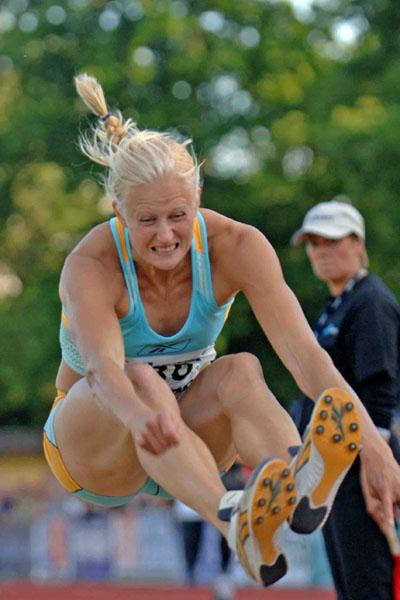 Carolina Klüft reaches 6.71 in Karlskrona (Hasse Sjögren)