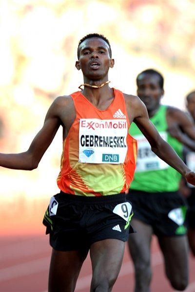 Impressive 5000m win for Dejen Gebremeskel in Oslo (Mark Shearman)