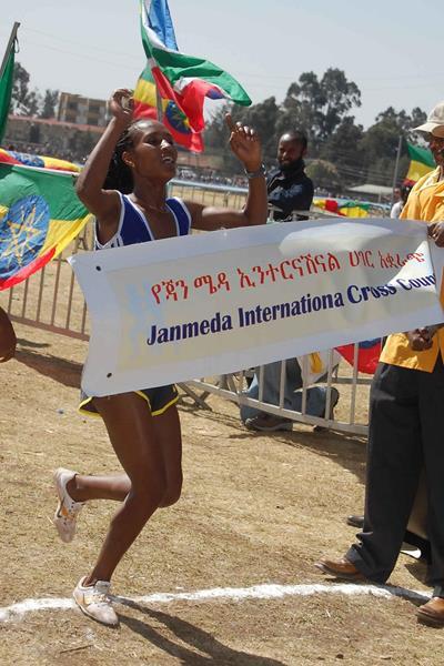 Gelete Burka wins at the 25th Jan Meda International Cross Country (Markneh Lorisso)