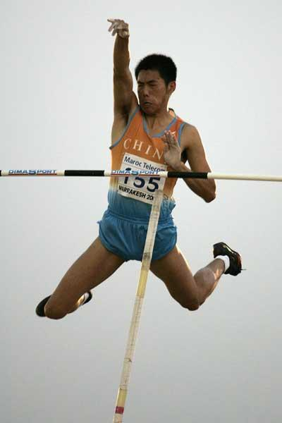 Yansheng Yang of China wins the Boys' Pole Vault final at the World Youth Championships (Getty Images)