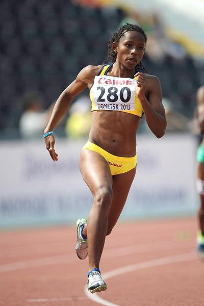 Ecuador's Angela Tenorio in action in the 200m (Getty Images)
