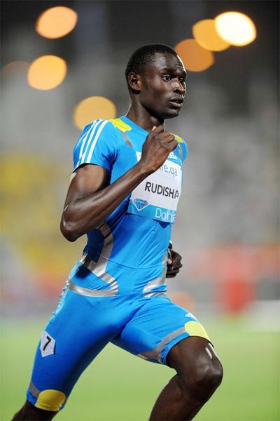 David Rudisha on his way to 800m victory in Doha (Jiro Mochizuki)