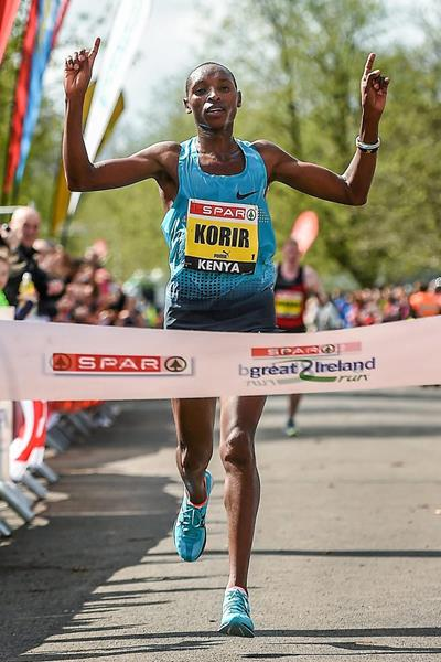 Japhet Korir wins the Great Ireland Run (Sportfile)