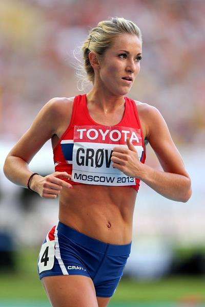 Karoline Bjerkeli Grovdal in the 5000m at the 2013 IAAF World Championships (Getty Images)