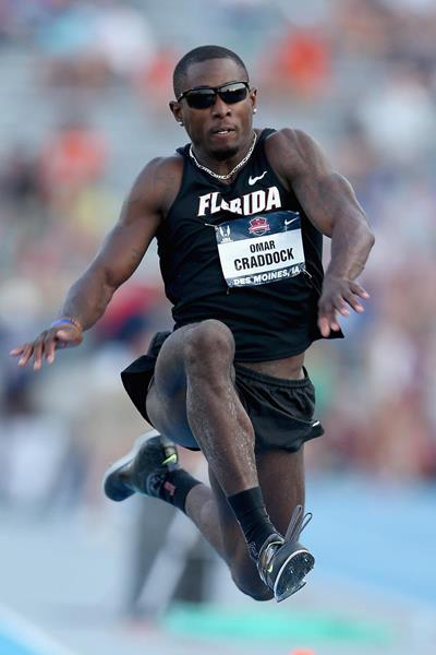 Omar Craddock on his way to winning the Triple Jump at the 2013 US Championships (Getty Images)