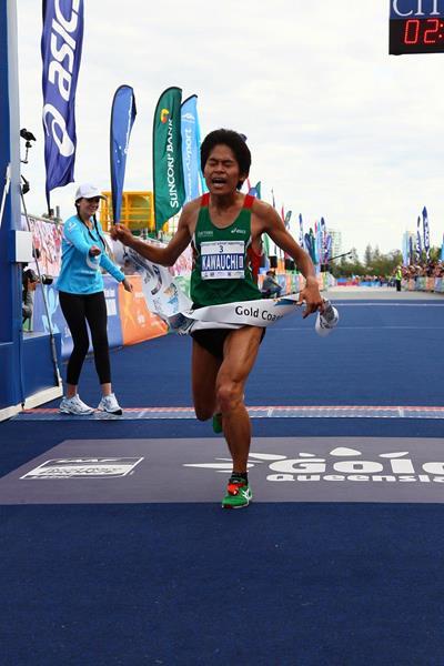 Japan's Yuki Kawauchi winning the 2013 Gold Coast Airport Marathon (Organisers)