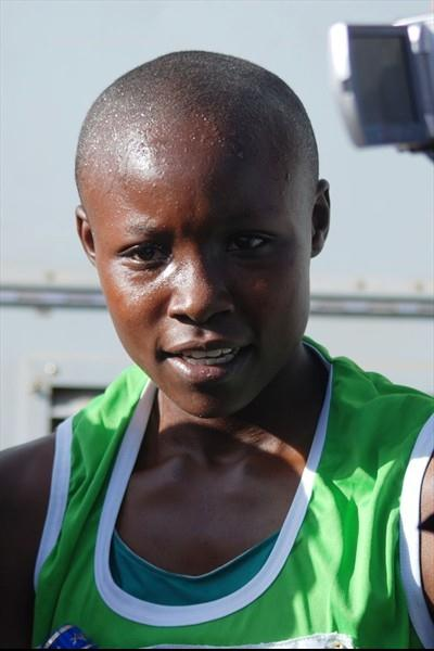 Mercy Cherono, winner of the junior title at the Kenyan World champs trials in Nairobi (Ricky Simms)