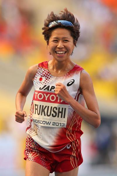 Kayoko Fukushi in the women's Marathon at the IAAF World Athletics Championships Moscow 2013 (Getty Images)