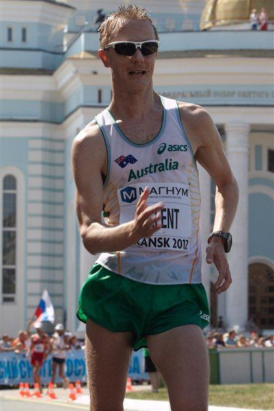 Jared Tallent of Australia on his way to bronze in Saransk (Getty Images)
