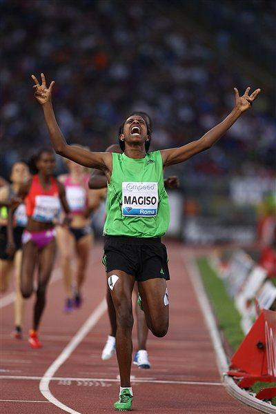 Fantu Magiso takes down a strong field in the Rome 800m  (Giancarlo Colombo)