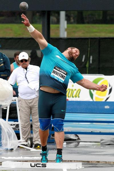 Ryan Whiting wins the Shot Put at the 2013 IAAF Diamond League in New York (Victah Sailer)