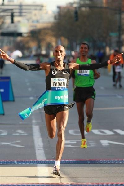 Impressive debut - Mo Farah takes the New York City Half Marathon (Lisa Coniglio/New York Road Runners)