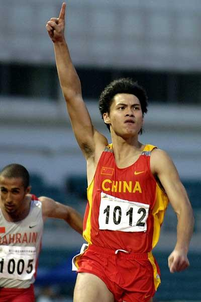 Liang Jiahong of China takes Asian Junior 100m title in 10.32 (Charlie Lee)