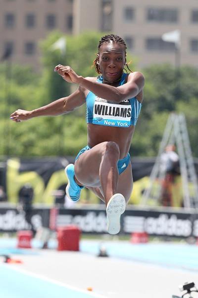 Kimberly Williams at the 2014 IAAF Diamond League meeting in New York (Victah Sailer)