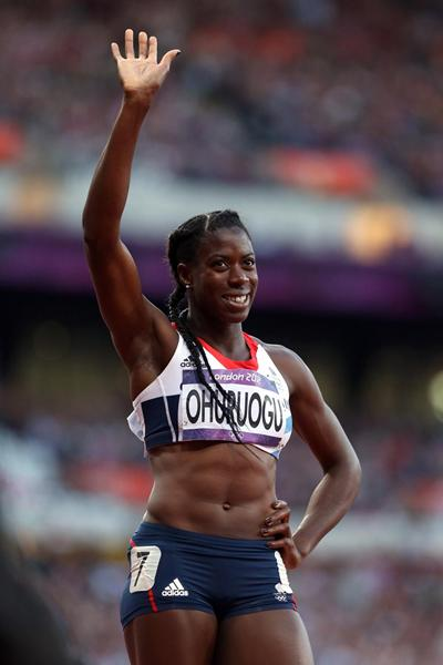 Christine Ohuruogu of Great Britain competes in the women's 400m semi-final at the London 2012 Olympic Games (Getty Images)