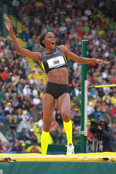 Chaunte Lowe, London-bound after 2.01m win in Eugene (Getty Images)