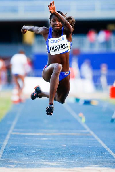 Yosiri Urrutia wins the triple jump at the Ibero-American Championships (Getty Images)