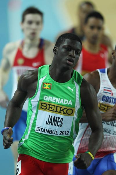 Kirani James at the 2012 IAAF World Indoor Championships in Istanbul (Getty Images)