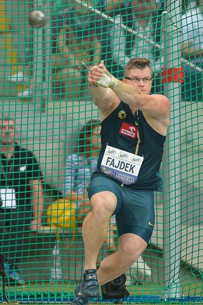 Pawel Fajdek, winner of the hammer (Marek Biczyk)