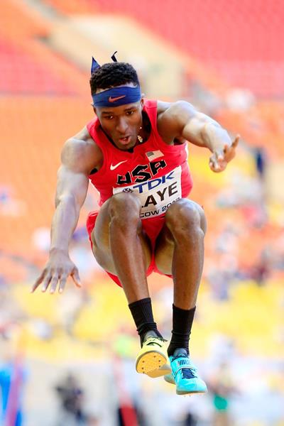 USA's Will Claye in action in the triple jump at the 2013 IAAF World Championships in Moscow (Getty Images)